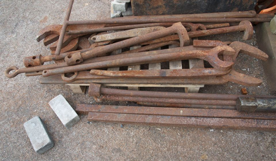old tools at underfall
